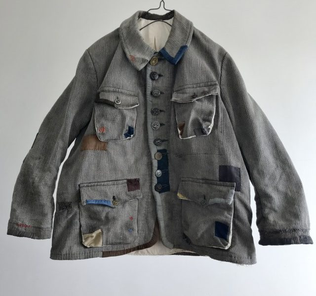 "Vintage Salt and Pepper  Piquet made  Hunting Jacket by  ""Dumont-d'Urville"""