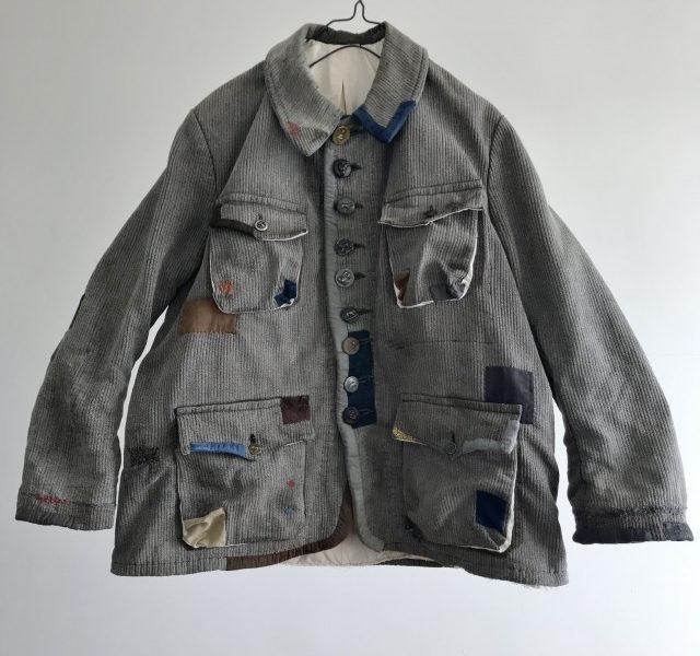 """Vintage Salt and Pepper  Piquet made  Hunting Jacket by  """"Dumont-d'Urville"""""""