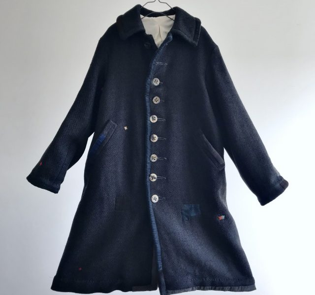 Vintage French Old Tailor-made Wool Barathea Coat