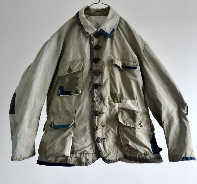 "French Vintage ""toile Dickson"" Cotton Canvas Hunting Jacket"