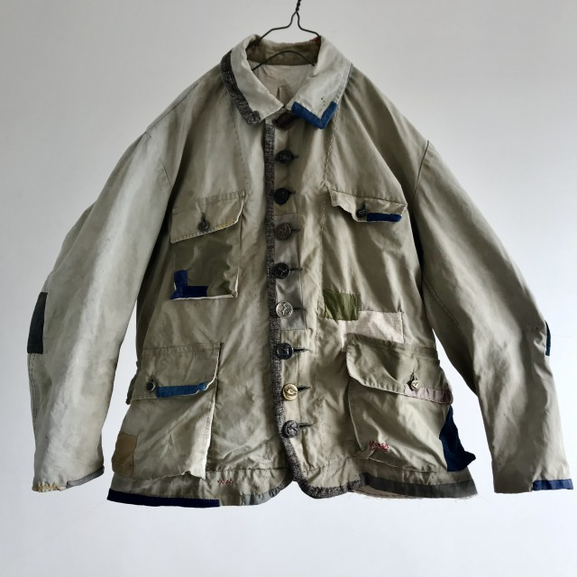 """French Vintage """"toile Dickson"""" Cotton Canvas Hunting Jacket"""