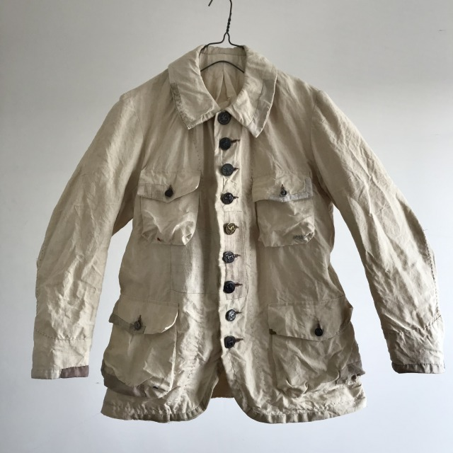 Pure French Linen Made Old  Hunting Jacket