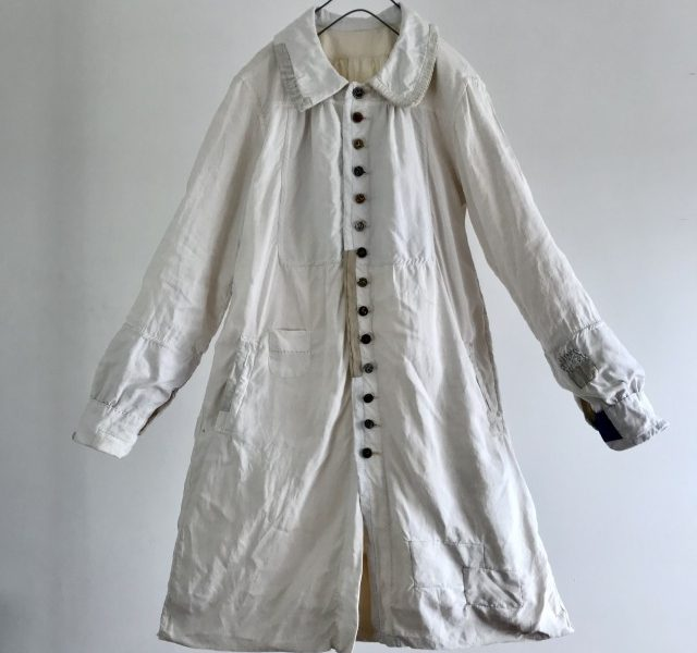 End of 19th Century Antique Pure French  Linen  Paysan Smock Coat