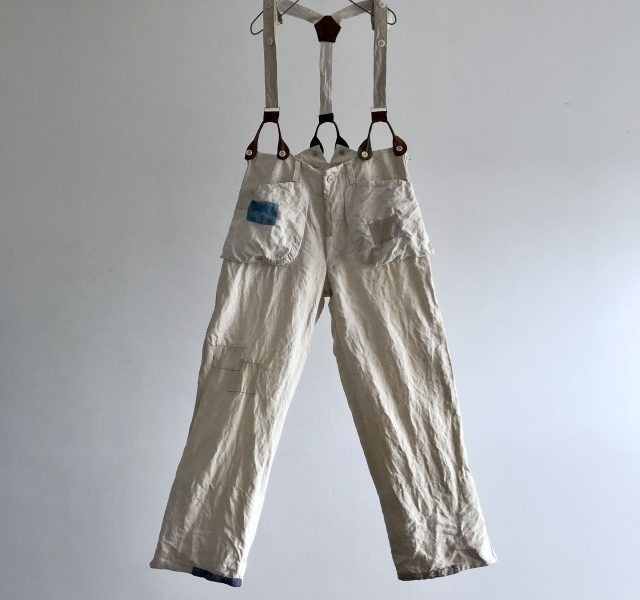 Antique Pure French Linen Made Work Pants