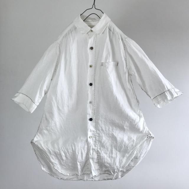 Belgian Linen Plain Weave Spiral Stitch Shirt