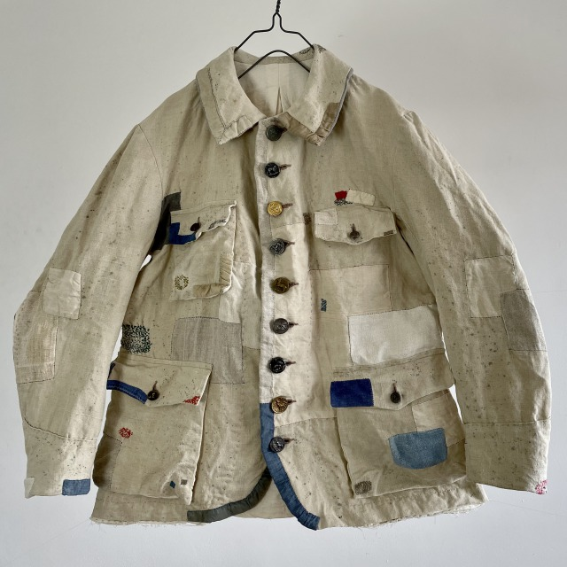 French Linen/Cotton Made Old Tailor-made Hunting Jacket