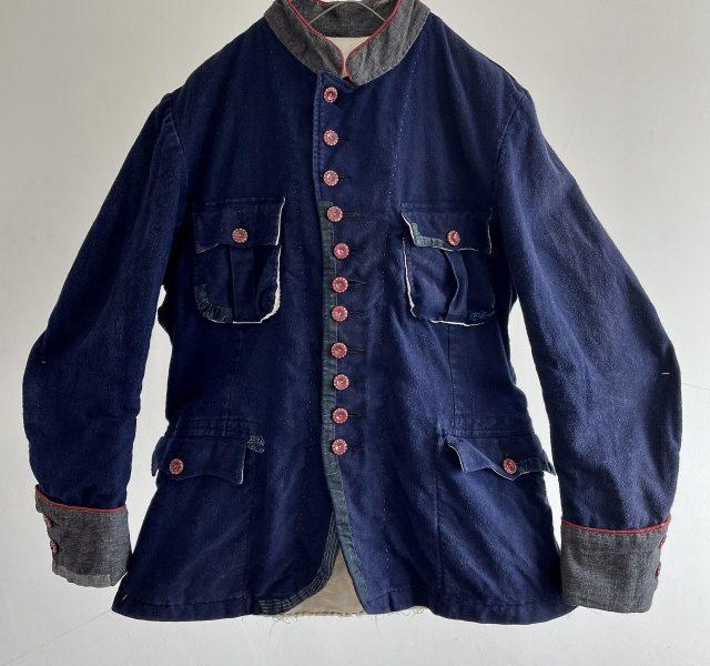 "Vintage Moleskin Cotton  "" Pompiers de Lille"" French Fire Fighter Jacket"