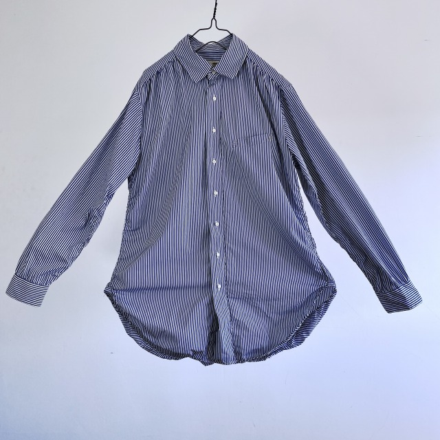 Thomas Mason Block Stripe Spiral Stitch Shirt